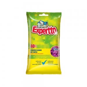 EXPERTTO Servetele Umede Antibacteriene pentru Geamuri
